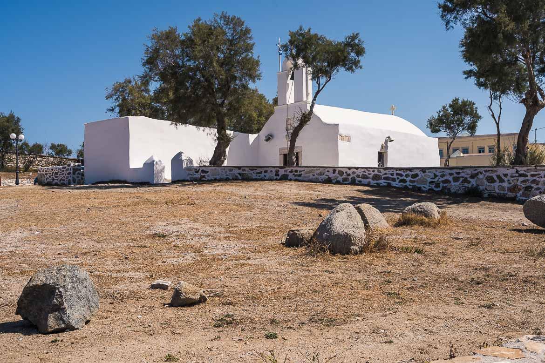 This image shows the church of Agios Georgios in Chora.