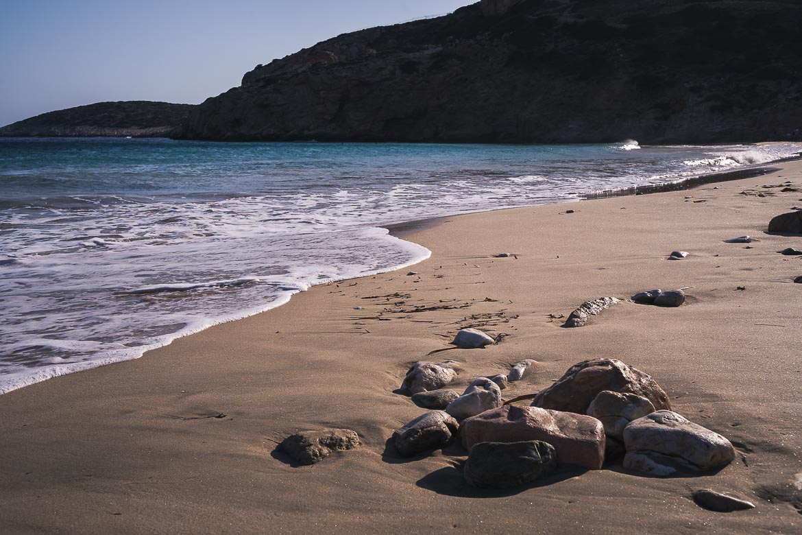 This image shows Kedros beach in Donoussa.
