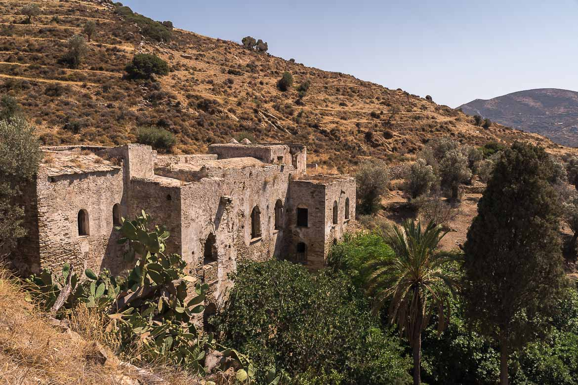 This image shows the abandoned Jesuit monastery in Kalamitsia.