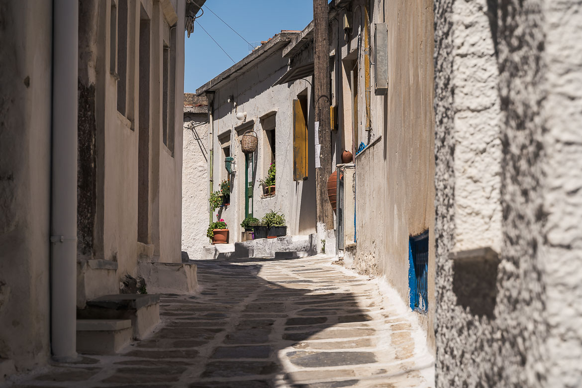 This image shows an alley in Koronos village.