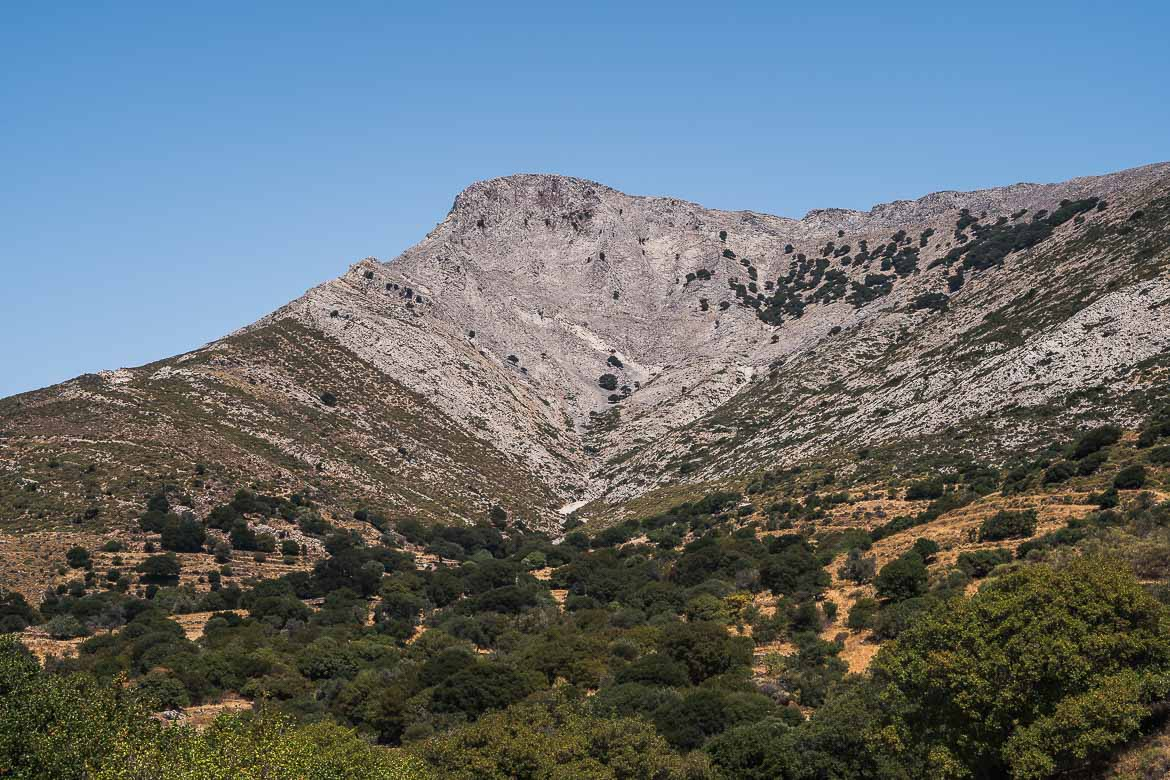 This image shows the summit of Mount Zeus, one of the best things to see in Naxos.