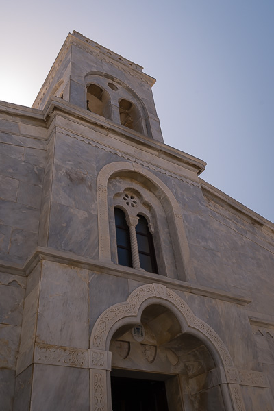 This image shows a closeup of the Roman cathedral's main entrance.