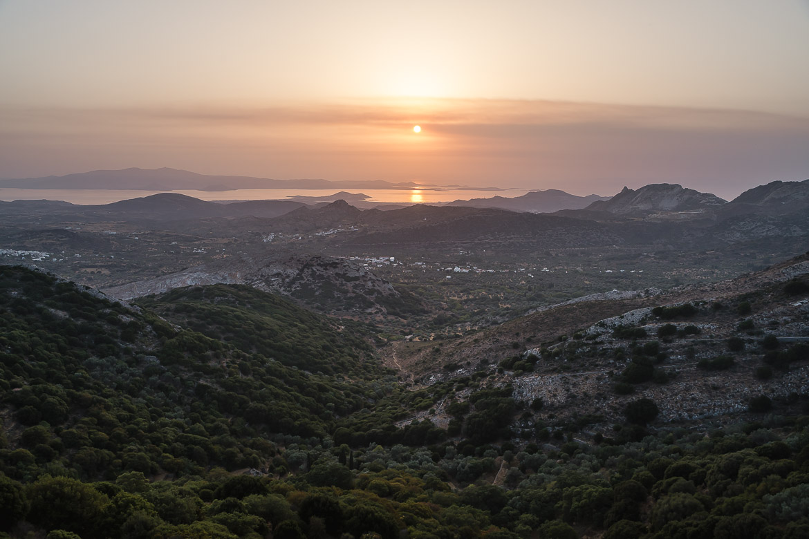 This image shows sunset from Rotonda restaurant.