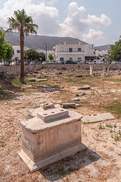 This is a photo of the ancient cemetery in Parikia.