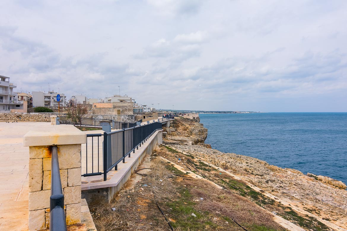 This photo was taken while we walked along the promenade. It shows part of the promenade as well as the view to the Adriatic Sea.