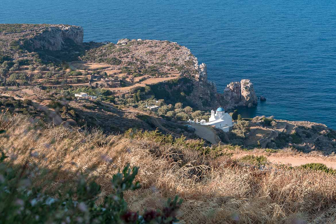View to Panagia Poulati Church from Verina Astra
