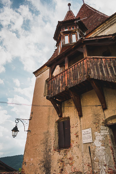 The Bootmaker's Tower in Sighisoara, Transylvania. What to do in Sighisoara Romania in 24 hours.