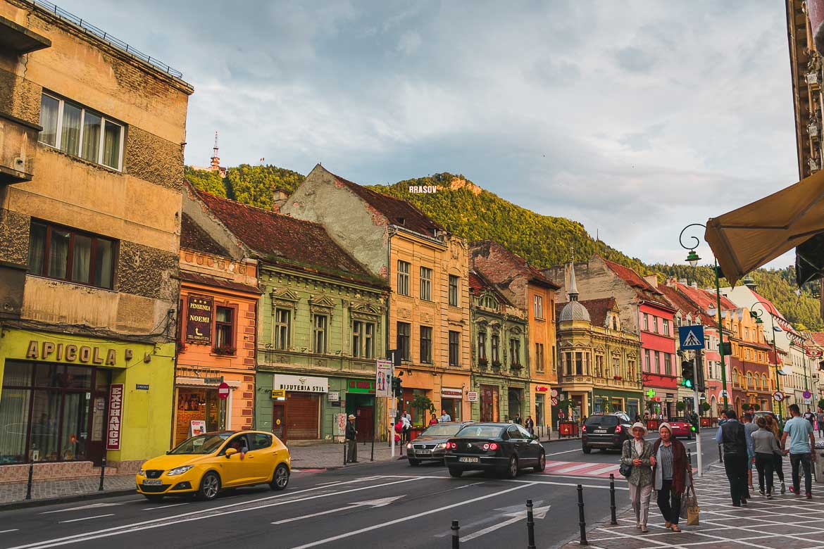 Picturesque Brasov in Transylvania is an easy day trip from Sighisoara. What to do in Sighisoara Romania in 24 hours.