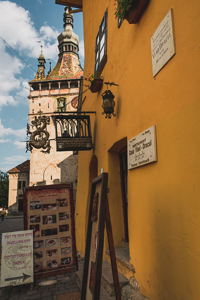 Casa Vlad, the house where Dracula was born in Sighisoara, Transylvania. What to do in Sighisoara Romania in 24 hours.