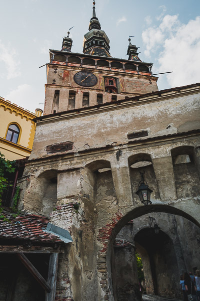 The Clock Tower in Sighisoara, Transylvania is the city's landmark. What to do in Sighisoara Romania in 24 hours.