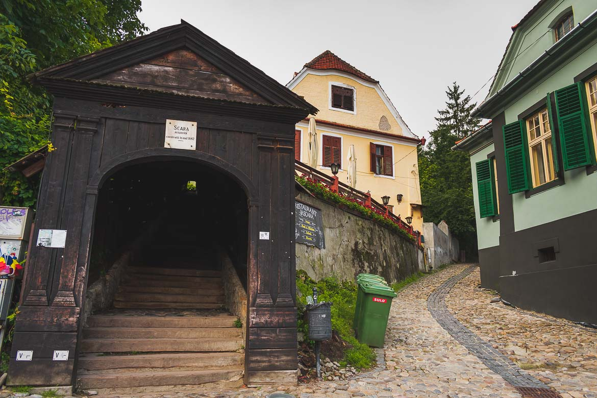 The Scholars' Stairs in Sighisoara Transylvania. What to do in Sighisoara Romania in 24 hours.