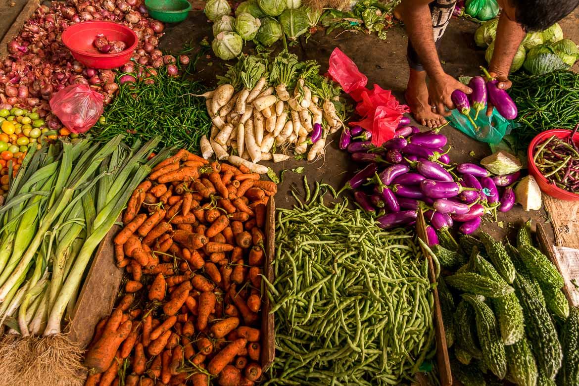 This photo shows vegetables at the local market in Trincomalee. Visiting the latter is among our favourite things to do in Trincomalee.