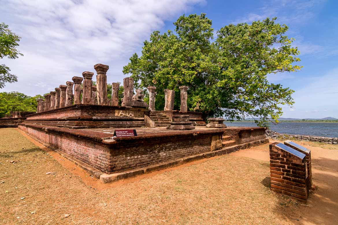 This photo shows the remains of an ancient building in Polonnaruwa. Its 8 UNESCO Sites is a top reason why visit Sri Lanka is an excellent idea.