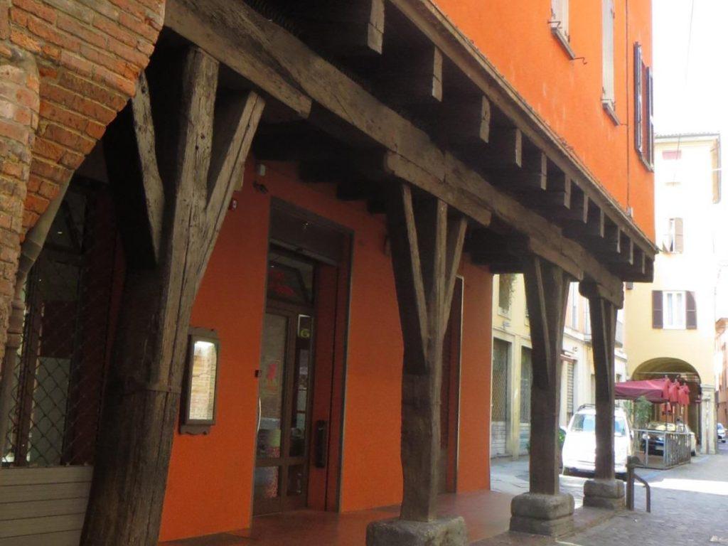wooden porticos bologna italy