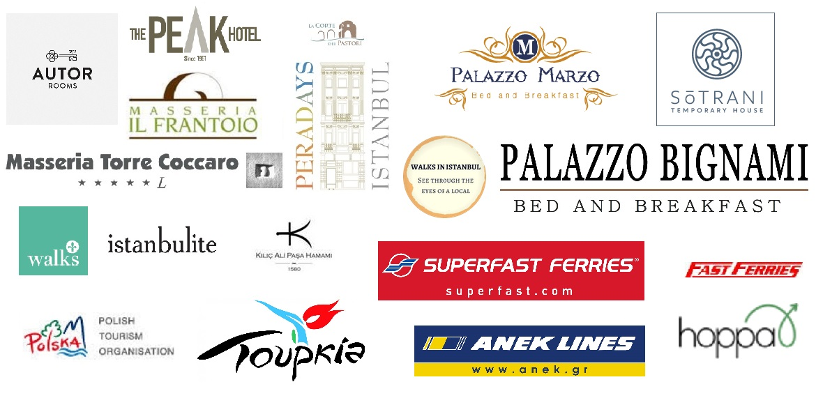 This image shows the logos of various brands (hotels, transfers, tours, etc) we have worked with and it is part of our work with us page.