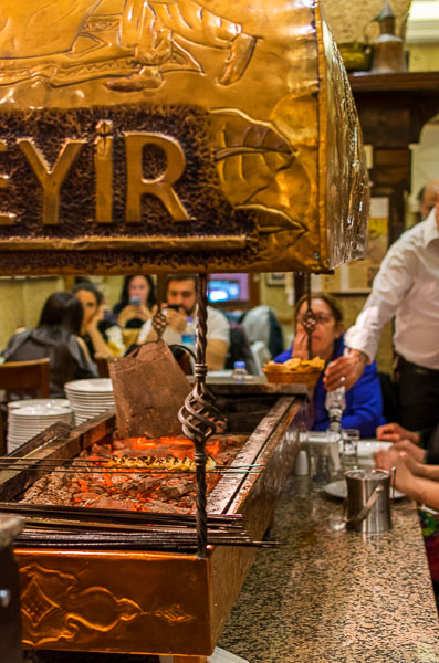 Famous for its kebabs, Zübeyir Ocakbaşı is one of the best places to eat in Istanbul. A delicious food tour in Istanbul Turkey.